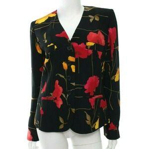 Sonia Rykiel Floral Jacket Blazer Career